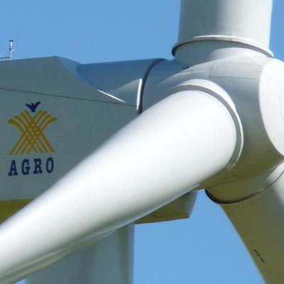 Windkraftanlage der Methauer AGRO-AG