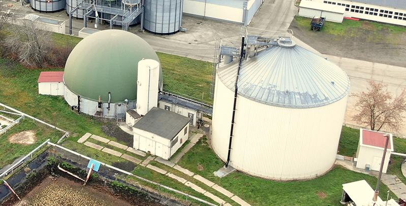 Biogasanlage der Methauer AGRO-AG
