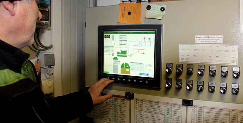 Steuerung der Biogasanlage bei der Methauer AGRO-AG