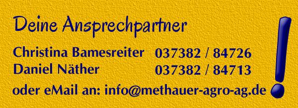 Ausbildung bei Methauer AGRO-AG