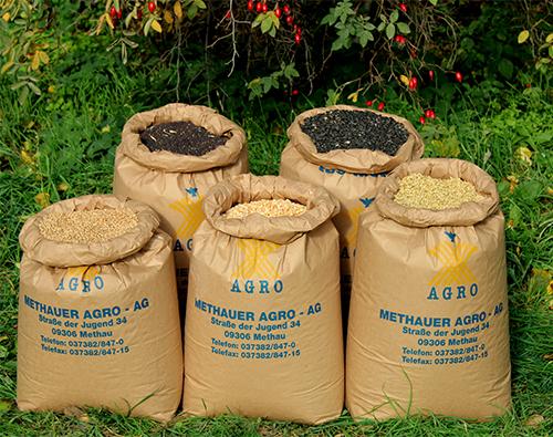 Getreidesäcke der Firma Methauer Argo-AG