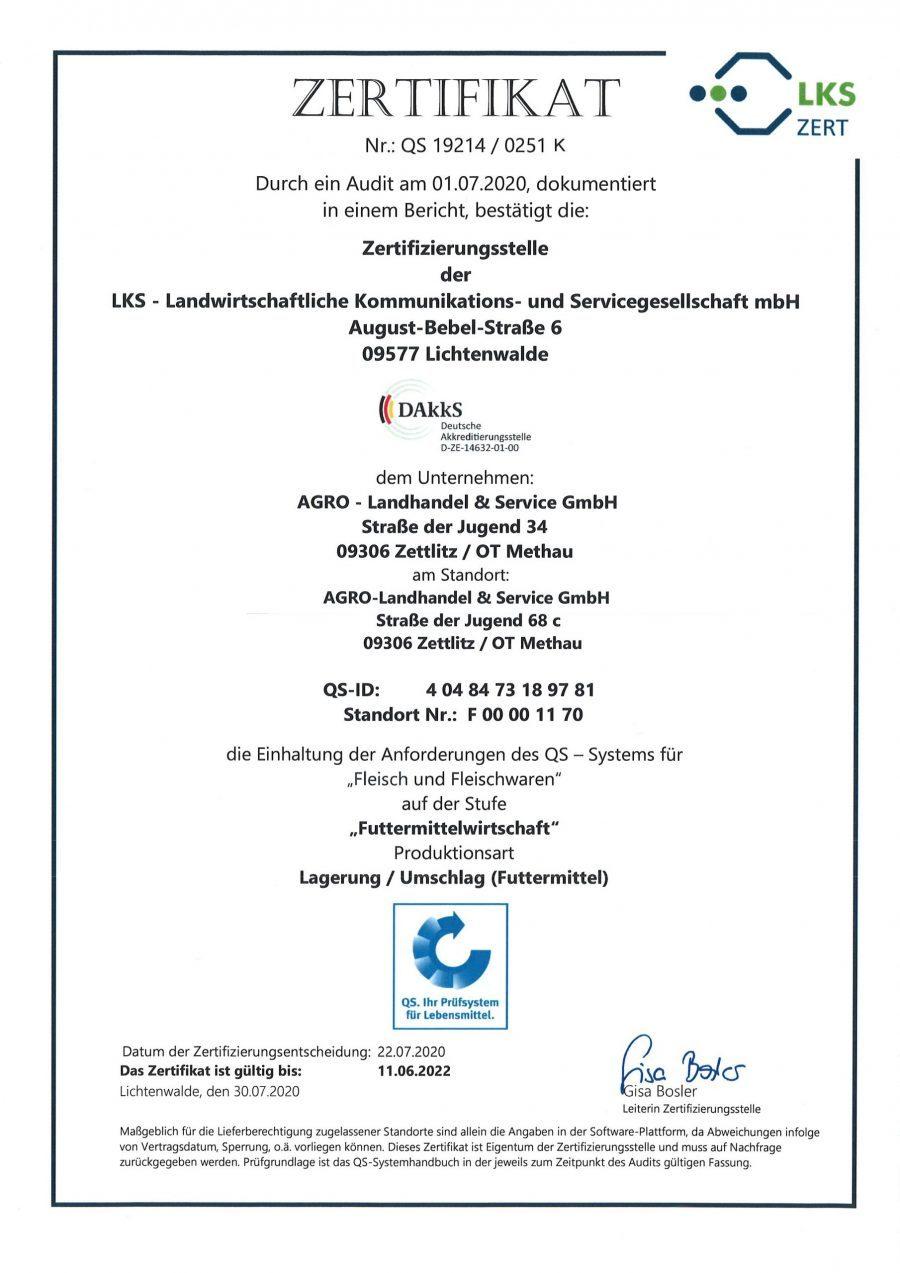 Zertifikat Landhandel